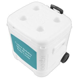Kundenspezifischer Geburtstags-Iglu 60 Quart Rolle Kühlbox Mit Rollen