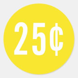 Kundenspezifischer gelber Preis-Aufkleber Runder Aufkleber