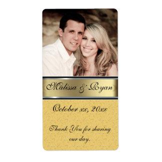 Kundenspezifischer Hochzeits-Goldwein-Aufkleber Versand Aufkleber