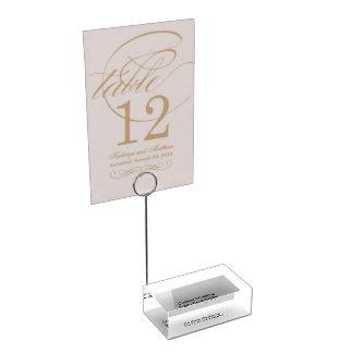 Kundenspezifischer Hochzeits-Tabellen-Kartenhalter