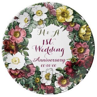 kundenspezifischer Hochzeitstag, dekorative Platte Teller Aus Porzellan