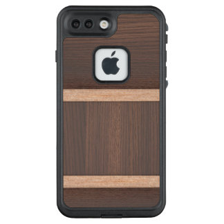 Kundenspezifischer hölzerner Entwurfsfall für LifeProof FRÄ' iPhone 7 Plus Hülle