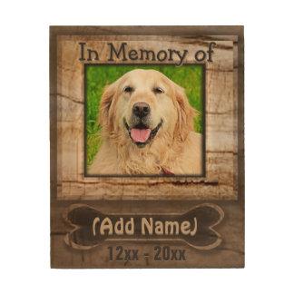 Kundenspezifischer Hundehölzerne Holzleinwand