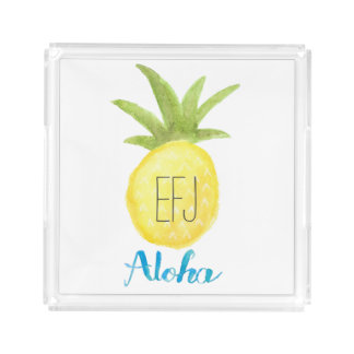 Kundenspezifischer Initialen-Aloha Acryl Tablett