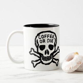 Kundenspezifischer Kaffee oder die Schädel Zweifarbige Tasse