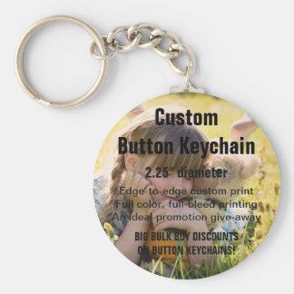 """Kundenspezifischer Keychain KNOPF 2,25"""" - Schlüsselanhänger"""