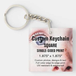 Kundenspezifischer Keychain QUADRATISCHER Schlüsselanhänger