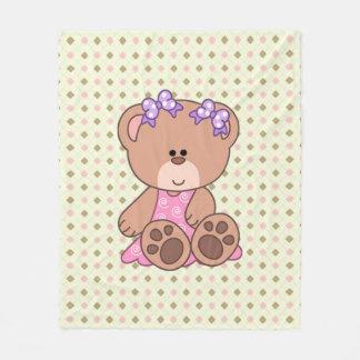 Kundenspezifischer kleines Mädchen-Bär Fleecedecke