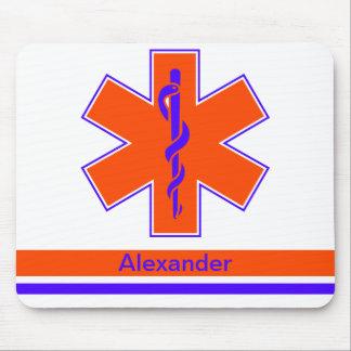 Kundenspezifischer Krankenwagen-orange und blauer Mousepad