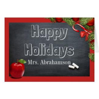 Kundenspezifischer Lehrer-Feiertag Grußkarte