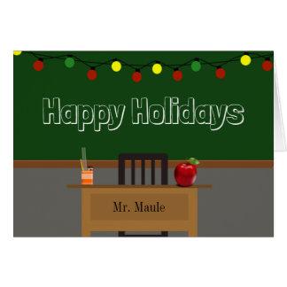 Kundenspezifischer Lehrer-Feiertag w/Lights Grußkarte