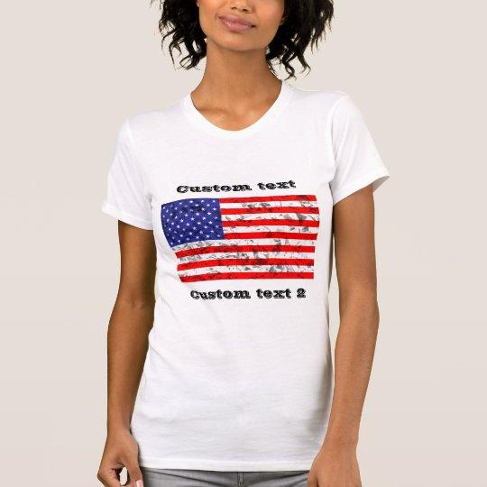 Kundenspezifischer metallischer Flaggeentwurf 2 T-Shirt