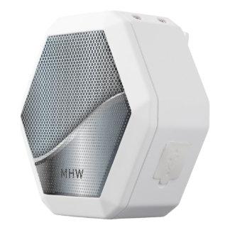 Kundenspezifischer Monogramm-Lautsprecher des Weiße Bluetooth Lautsprecher