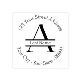 Kundenspezifischer Monogramm-Name und Gummistempel