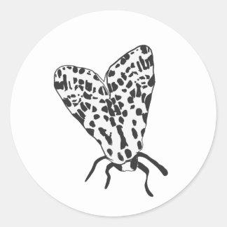 Kundenspezifischer Motten-Skizze-Aufkleber Runder Aufkleber