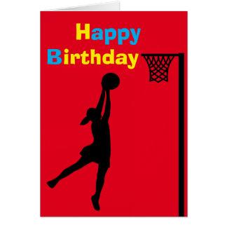 Kundenspezifischer Netball-Spieler-Geburtstag Karte