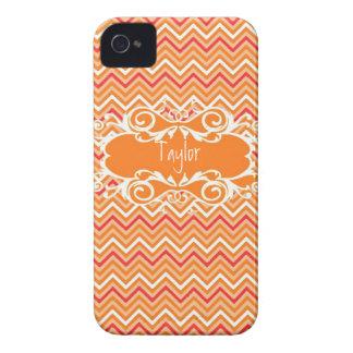 Kundenspezifischer orange Zickzack Iphone Kasten Case-Mate iPhone 4 Hüllen