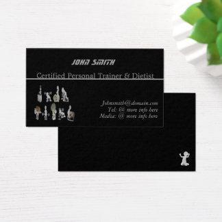 Kundenspezifischer persönlicher Trainer/Dietist Visitenkarte