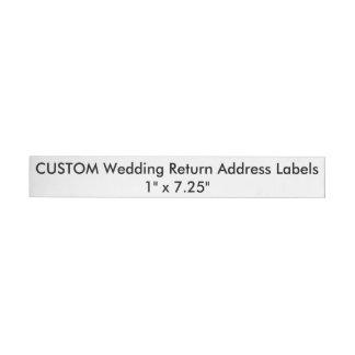 Kundenspezifischer Rundum-Adressaufkleber Für Rückversand
