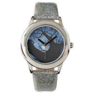 Kundenspezifischer silberner Glitter Armbanduhr
