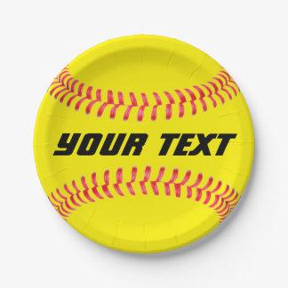 Kundenspezifischer Softball-Papier-Teller Pappteller