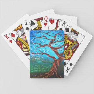 Kundenspezifischer surrealer Kirschbaum Spielkarten