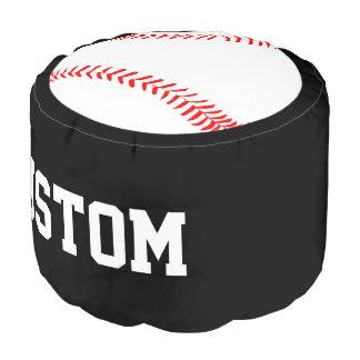 Kundenspezifischer Text-Baseball-Spieler-runder Hocker