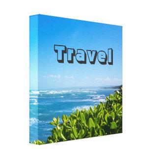 Kundenspezifischer Text des Reise-Paradies-| Leinwanddruck