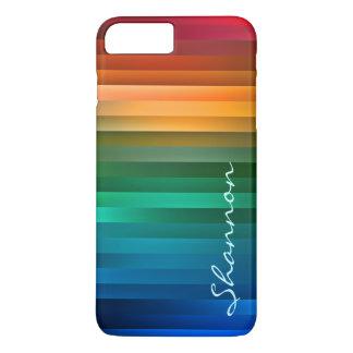 Kundenspezifischer Text-Regenbogen-Streifen iPhone iPhone 7 Plus Hülle