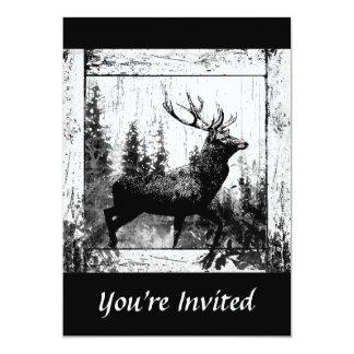 Kundenspezifischer Vintager Entwurfs-Hirsch, 12,7 X 17,8 Cm Einladungskarte