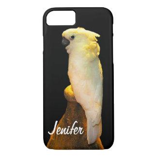 Kundenspezifischer weißer Cockatoo stehend auf iPhone 8/7 Hülle