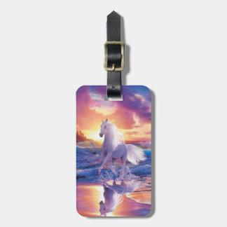 Kundenspezifischer weißer Stallions-Gepäckanhänger Gepäck Anhänger