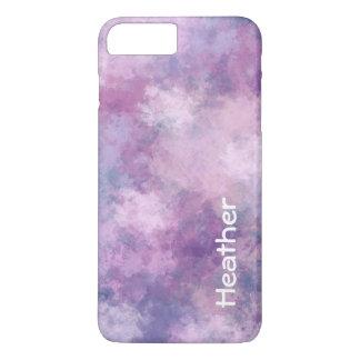 Kundenspezifisches abstraktes Blau, Flieder, rosa iPhone 7 Plus Hülle