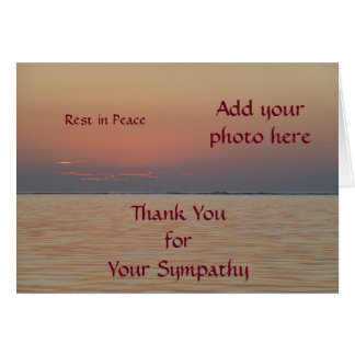 Kundenspezifisches Beileid danken Ihnen Karten -