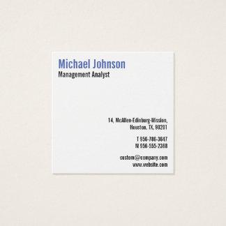 Kundenspezifisches berufliches modernes einfaches quadratische visitenkarte