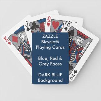 Kundenspezifisches Bicycle® blau, rotes, graues Bicycle Spielkarten