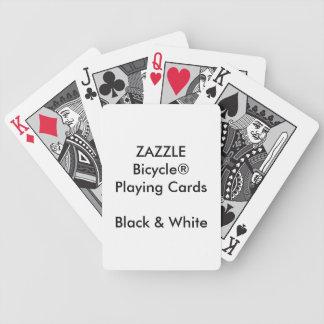 Kundenspezifisches Bicycle® schwarze u. weiße Bicycle Spielkarten