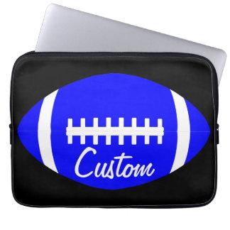 Kundenspezifisches blaues Fußball-Team, Spieler Laptop Sleeve