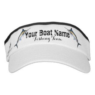 Kundenspezifisches Boots-Namen-Fischen-Team mit Visor