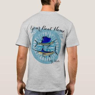 Kundenspezifisches Boots-Namen-Segelfisch- und T-Shirt