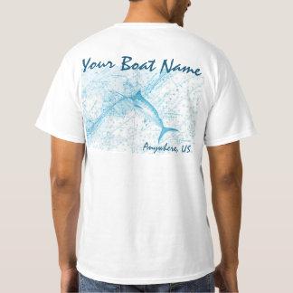 Kundenspezifisches Boots-Namen-Speerfisch-Shirt T-Shirt