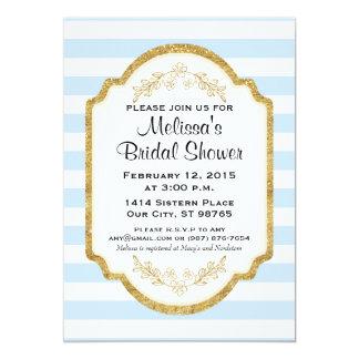 Kundenspezifisches Brautparty laden, blaue 12,7 X 17,8 Cm Einladungskarte