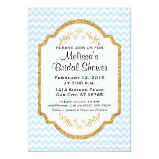 Kundenspezifisches Brautparty laden, blaues 12,7 X 17,8 Cm Einladungskarte
