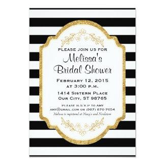 Kundenspezifisches Brautparty laden, schwarze 12,7 X 17,8 Cm Einladungskarte