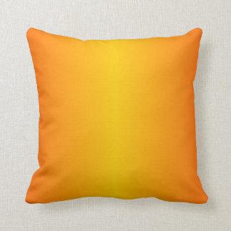 Kundenspezifisches dunkelorangefarbiges Gelb Kissen
