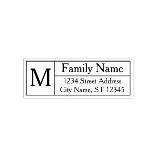 Kundenspezifisches Familien-Monogramm, Name und Permastempel