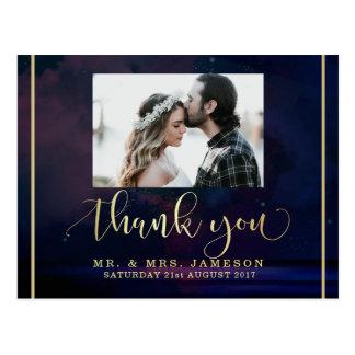 Kundenspezifisches Foto danken Ihnen   Starry Postkarte