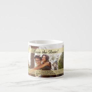 Kundenspezifisches Foto, das Save the Date Wedding Espressotasse