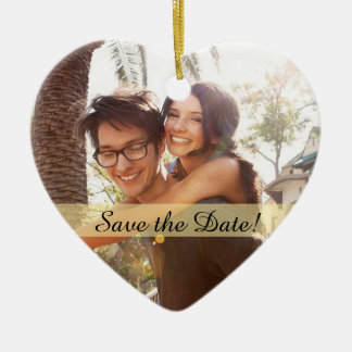 Kundenspezifisches Foto, das Save the Date Wedding Keramik Ornament