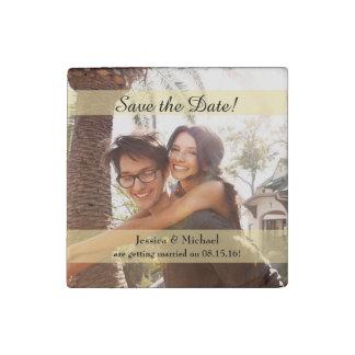 Kundenspezifisches Foto, das Save the Date Wedding Stein-Magnet
